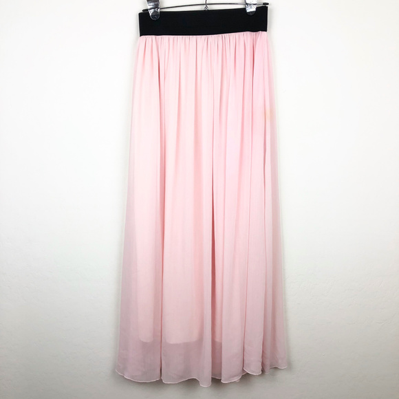 Say What Skirts Say What Light Pink Maxi Skirt Poshmark